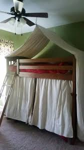 Bunk bed tent made from drop cloths for boys camping themed room ...