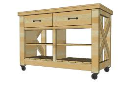 free plans to build rustic x kitchen island double width from ana white com