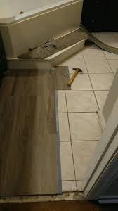 good looking tile over laminate floor 2