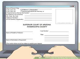 How To Write A Letter For Not Being Able To Attend Court