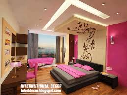 pink modern bedroom designs. Contemporary Bedroom Design Ideas With New Ceiling And Pink Paint Scheme Modern Designs