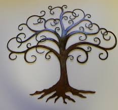 tree scene metal wall art:  wall art ideas design elegance wolfleys tree metal modern bathroom inspiring touch spruce thing bolder formal