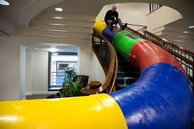 google office fun. Indoor Slide At Google San Francisco Office Fun E