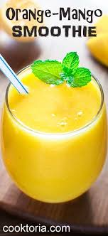 quick healthy and dairy free this orange mango smoothie will bee your favorite