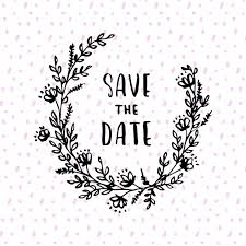 Save The Date Images Free Floral Save The Date Wreath Design Vector Free Download