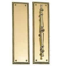 push plate door. push plate and pull set door