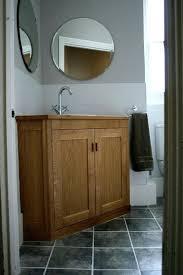 bathroom corner vanity furniture astounding bathroom corner vanity unit with unfinished oak shaker cabinet doors and double handle pull corner bathroom
