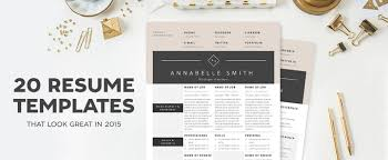 30 Best Resume Template Designs 2015 Web Graphic Design Awesome