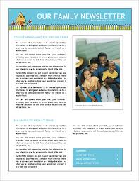 newsletter template for pages 7 family newsletter templates free word documents download