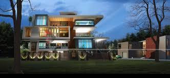 ultra modern architecture. Delighful Modern Night View Of Ultra Modern Homes For Architecture