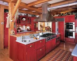 fabulous rustic red painted kitchen cabinets rustic red kitchen cabinets trendy design ideas 1 rustic red