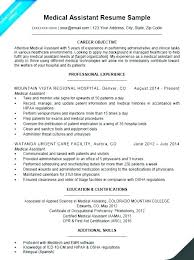 Medical Assistant Example Resume Medical Assistant Resume Example ...