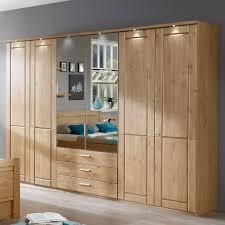 Kleiderschrank Aus Holz Mit Spiegel Und Schubalden Trikomo
