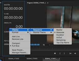 work with timecode in premiere pro