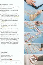 heated bathroom tiles. Basic Installation Method For The Underfloor Heating Mats Heated Bathroom Tiles B