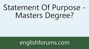Statement of purpose help