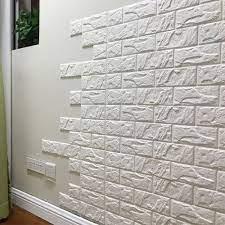 Faux brick wallpaper ...