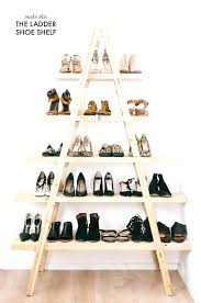 shoe rack ideas ladder shoe shelf all you need is a ladder some boards diy shoe rack
