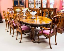 this is a fabulous antique burr walnut dining set prising a burr walnut dining table