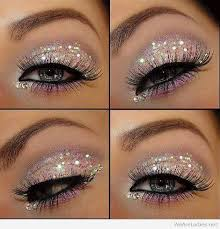 glitter eye makeup idea