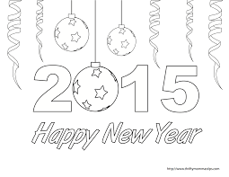 Small Picture Happy New Year coloring page