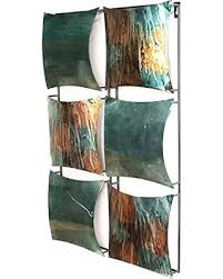 heather ann creations 6 square panel decorative metal wall accent art 16 x 25 on turquoise and brown metal wall art with incredible summer sales on heather ann creations 6 square panel