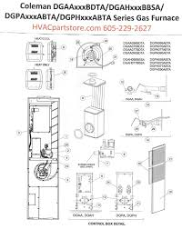 dgaa070bdta coleman gas furnace parts hvacpartstore click here to view a manual for the dgaa070bdta which includes wiring diagrams