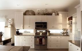 best kitchen decor aishalcyon org ideas for decorating the top of kitchen cabinets