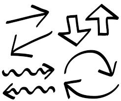 手書きの矢印 イラスト無料配布商用利用可リンクフリーfrogs Art