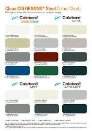 Bluescope Color Chart Colour Chart Bluescope