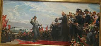 On april 12, 1961, soviet cosmonaut, yuri gagarin, made history at the age of 27 by completing a single orbit of earth in approximately 108 minutes. Springville Museum Of Art Khrushchev S Greeting 1st Cosmonaut Yuri Gagarin Upon His Return To Earth