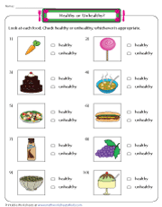 A healthy diet helps to protect against malnutrition in all its forms, as well as noncommunicable diseases (ncds), including such as diabetes, heart disease, stroke and cancer. Healthy And Unhealthy Food Worksheets