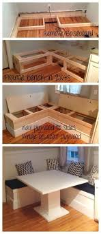 breakfast furniture. ana white diy breakfast nook with storage projects furniture