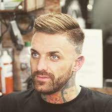 modern men s hairstyles side part with high bald fade