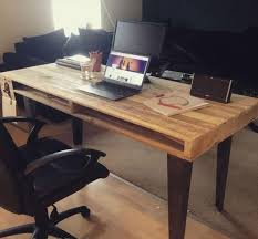 pallet office. pallet computer table and office desk e