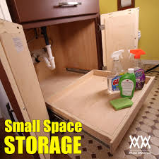 under sink storage how to build and install a full extension organizer drawers bathroom