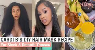cardi b s natural diy hair mask recipe