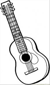 Small Picture 6 String Guitar Coloring Page Free Instruments Coloring Pages