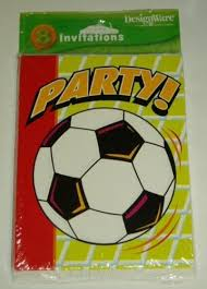Soccer Party Invitations Amazon Com Soccer Party Invitations 8 Count Cards Envelopes For