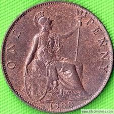 1900 Uk Penny Value Victoria