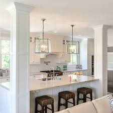 kitchen island re-do with pillars More