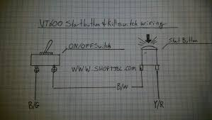 faq tj brutal customs complete vt600 wiring diagram 1988 to 2007 · start button and kill switch wiring for 2 pole switches