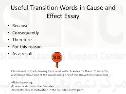 how to and respond to a writing prompt ppt video online  useful transition words in cause and effect essay