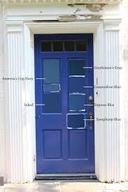 blue front door8 Paint Colors For A Blue Front Door  Blue Door Living