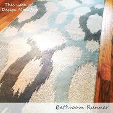 extra long bath rug bathroom runner rugs slip