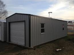 garage shed with roll up doors hometown sheds conway