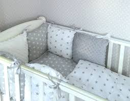cot per nursery bedding set grey stars and white grey minky 1 of 5 see more