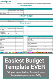 budget templets the easiest to use budget template ever meredith rines