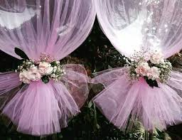 best 25 tulle centerpiece ideas on pinterest tulle decorations Wedding Decoration Ideas Using Tulle a little something we did today for a baby shower with fresh flowers wedding decoration ideas with tulle