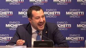 MATTEO SALVINI IN SOSTEGNO DI ENRICO MICHETTI SINDACO DI ROMA - YouTube